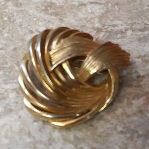 Vintage Two-Tone Colored Coro Brooch